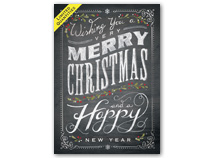 Chalkboard Merry Christmas Greeting Cards