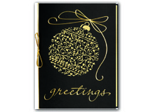 Etched in Gold Laser-Cut Holiday Cards