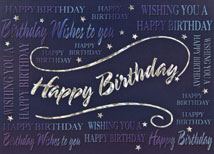 Multiple Wishes Happy Birthday Card