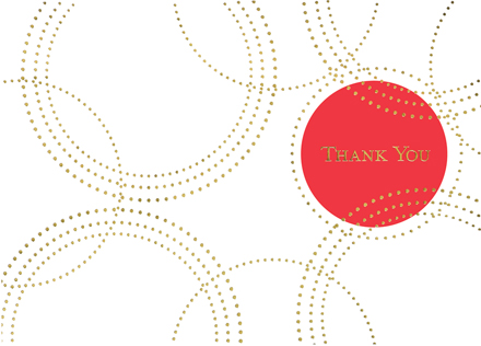 Red Dot Marks the Spot Thank You Card